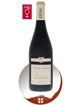 Bouteille vin rouge AOP Vin de Savoie Mondeuse cru Saint Jean de la Porte de la gamme domaine