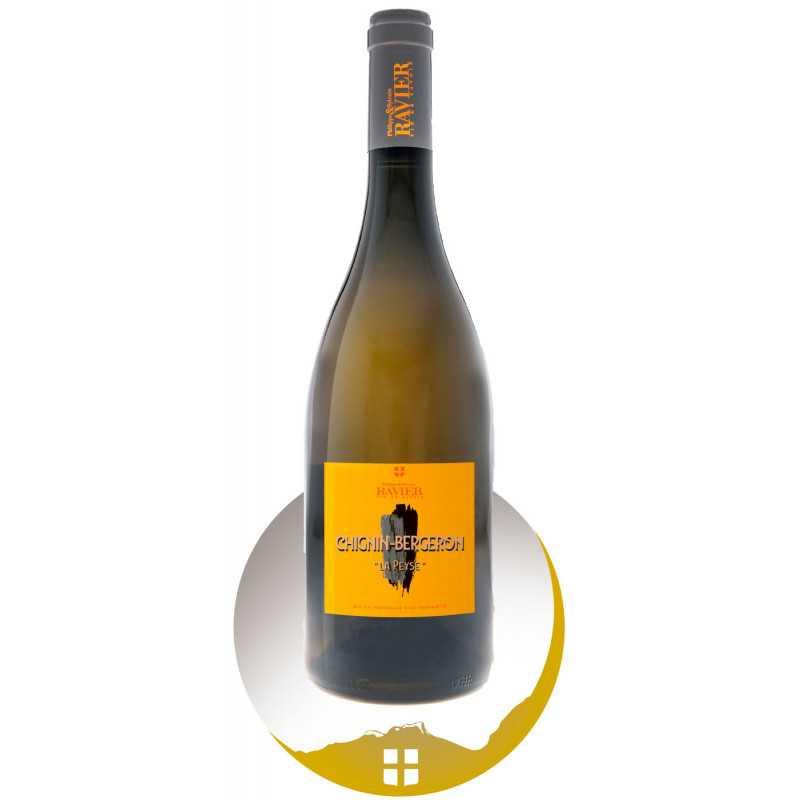 Bouteille vin blanc Aop vin de Savoie cru Chignin Bergeron de la gamme Nos Bien Élevés