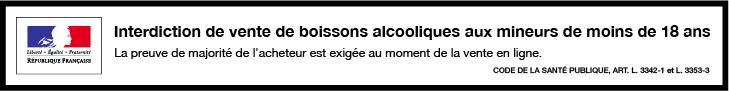 L'ABUS D'ALCOOL EST DANGEREUX POUR LA SANTÉ, À CONSOMMER AVEC MODÉRATION.